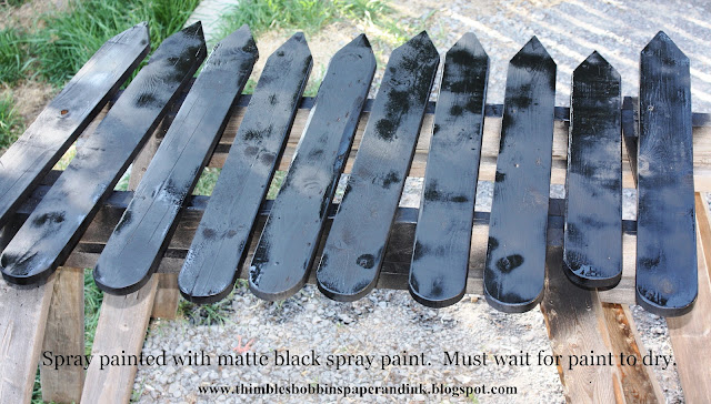 painted+black Guest Post: DIY Faux Chalkboard Garden Markers from Thimbles, Bobbins, Paper and Ink
