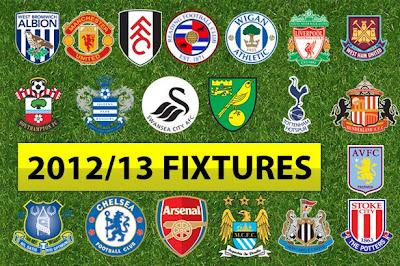 Jadwal Lengkap Liga Inggris 2012-2013