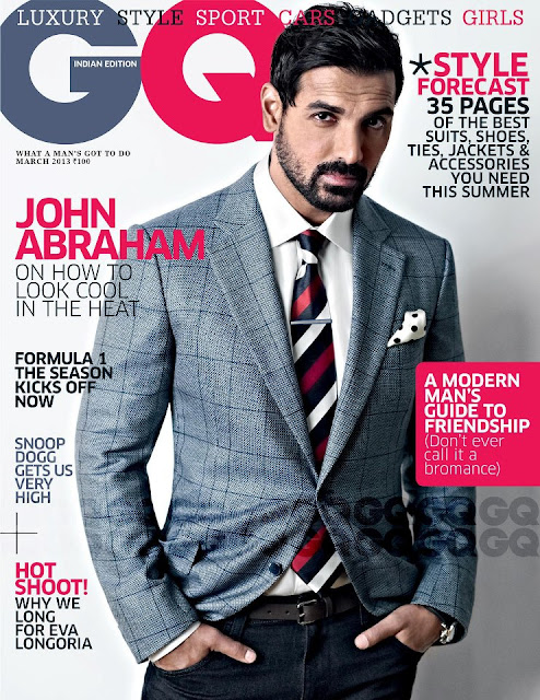 John Abraham on the cover page of GQ_India