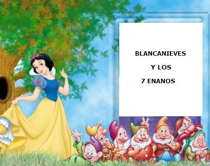 Dibujo: Blancanieves con los siete enanos