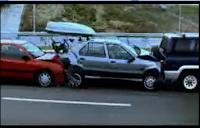 batida, traseira, carro, colisão