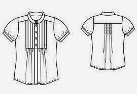 Production sketch of a Ladies Blouse