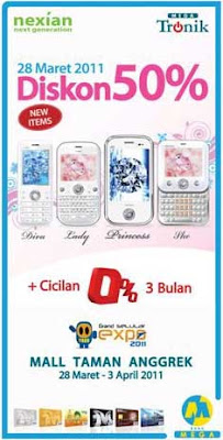 Promo Nexian Princess, Diva, Lady And She With Mega Tronik Credit Card