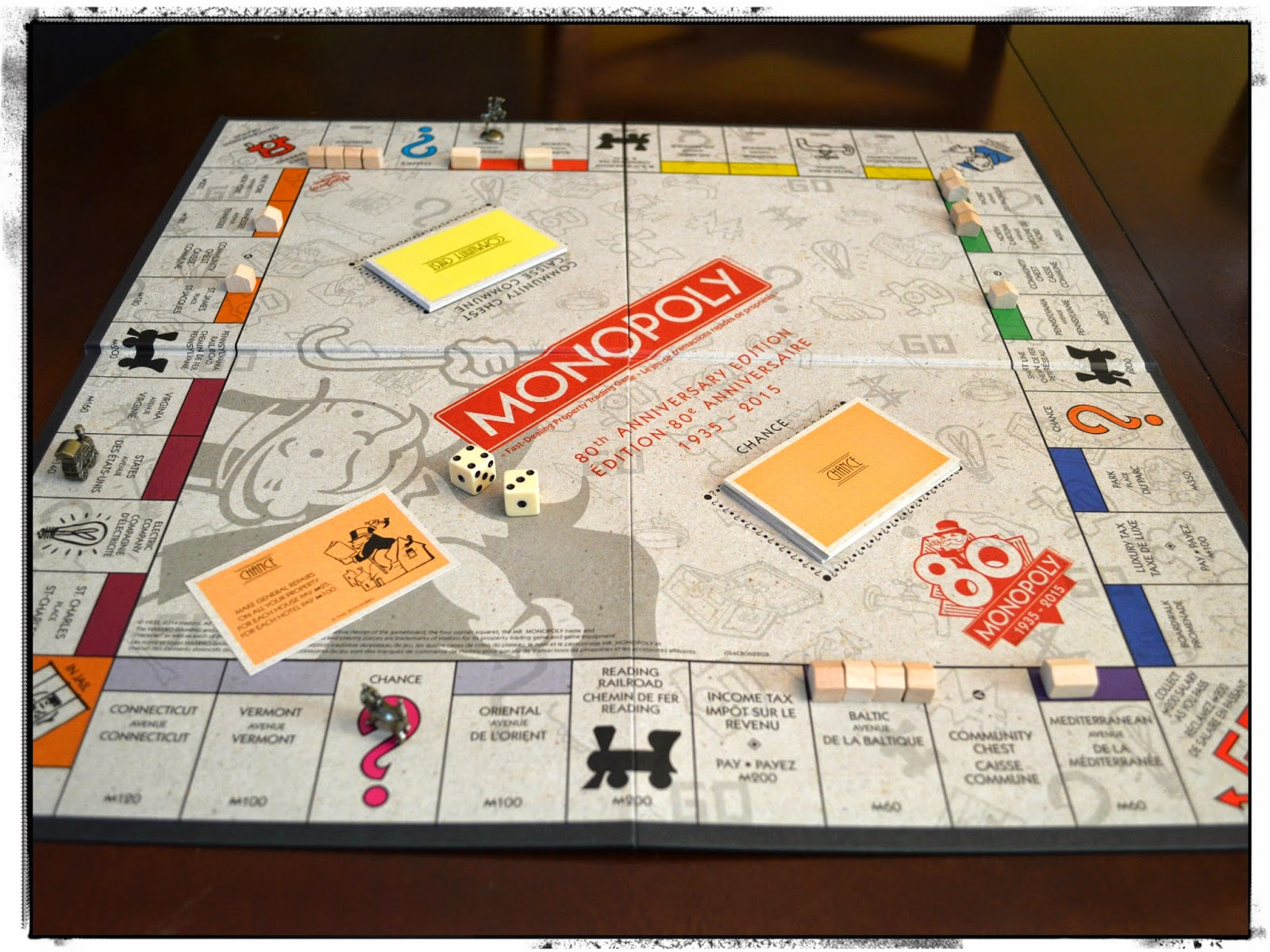 Monopoly 80th Anniversary board