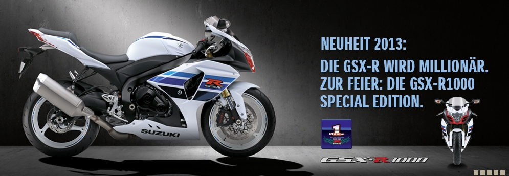 SALON INTERMOT 2012 :SUZUKI GSX-R 1000 Z (2013) 1 MILLION EDITION