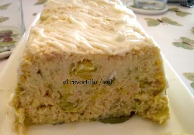 Pastel De Calabacin, Atun Y Gambas