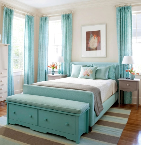 bright blue bedroom  Create a Seaside Bedroom Retreat 5 Color Ideas from  Better Homes. Bright Blue Bedroom   SNSM155 com