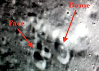 Dome Over Crater on Moon