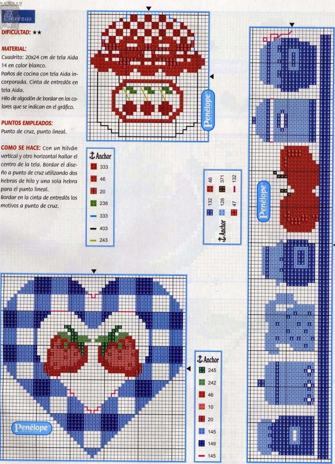 схема вышивки розы бордюр