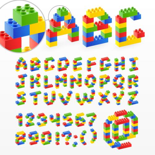 LEGO Block Font Letters