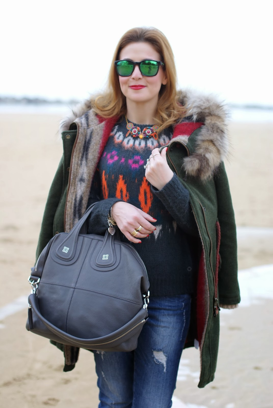 Gamp parka verde, Fashion and Cookies, jeans noisy may, fashion blogger