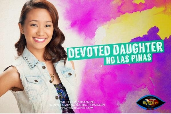 "Pinoy Big Brother housemates photo Jayme Jalandoni ""Devoted Daughter"""