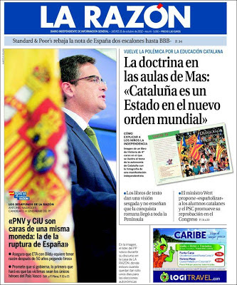 """""""Cataluña es un estado de un nuevo orden mundial"""" (ABC,12/10/2012) Larazon.750"""