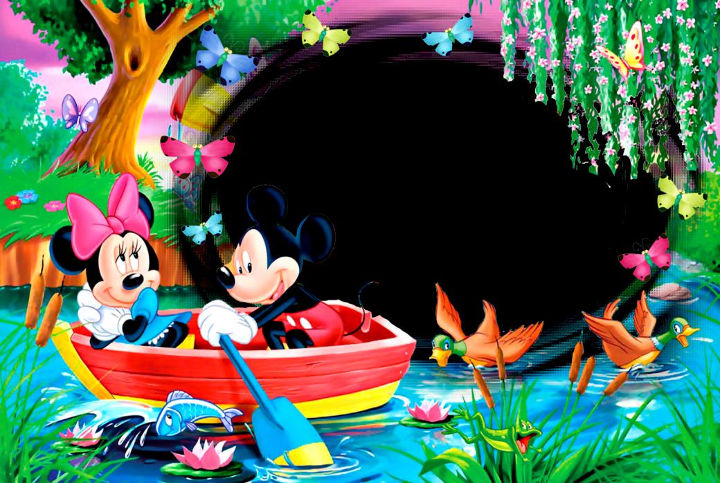 Marcos png de mickey mouse para ni os marcos gratis - Colocar fotos en pared ...