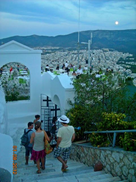 Monte Lycabettus en Atenas: restaurante Horizontes