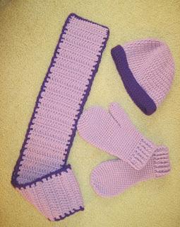 matching crocheted set