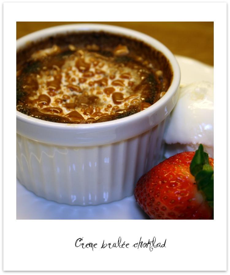 creme brulee choklad
