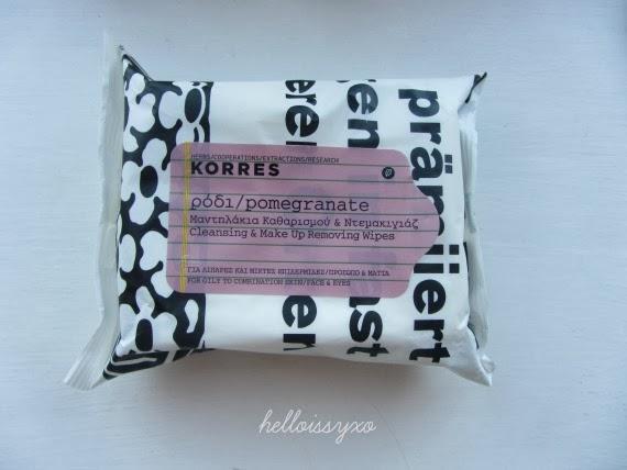 Korres Pomegranate Wipes