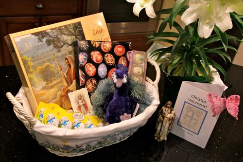 Shower of roses easter symbols an easter basket for the whole easter symbols an easter basket for the whole family negle Choice Image