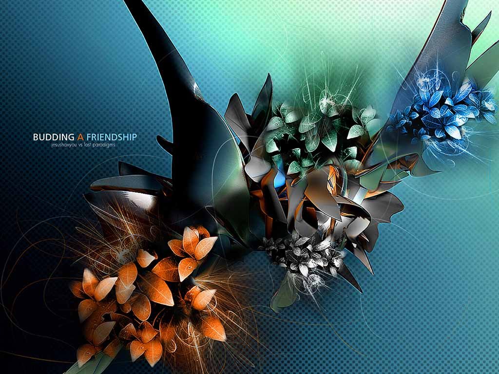 hd wallpapers: 3d flowers wallpapers