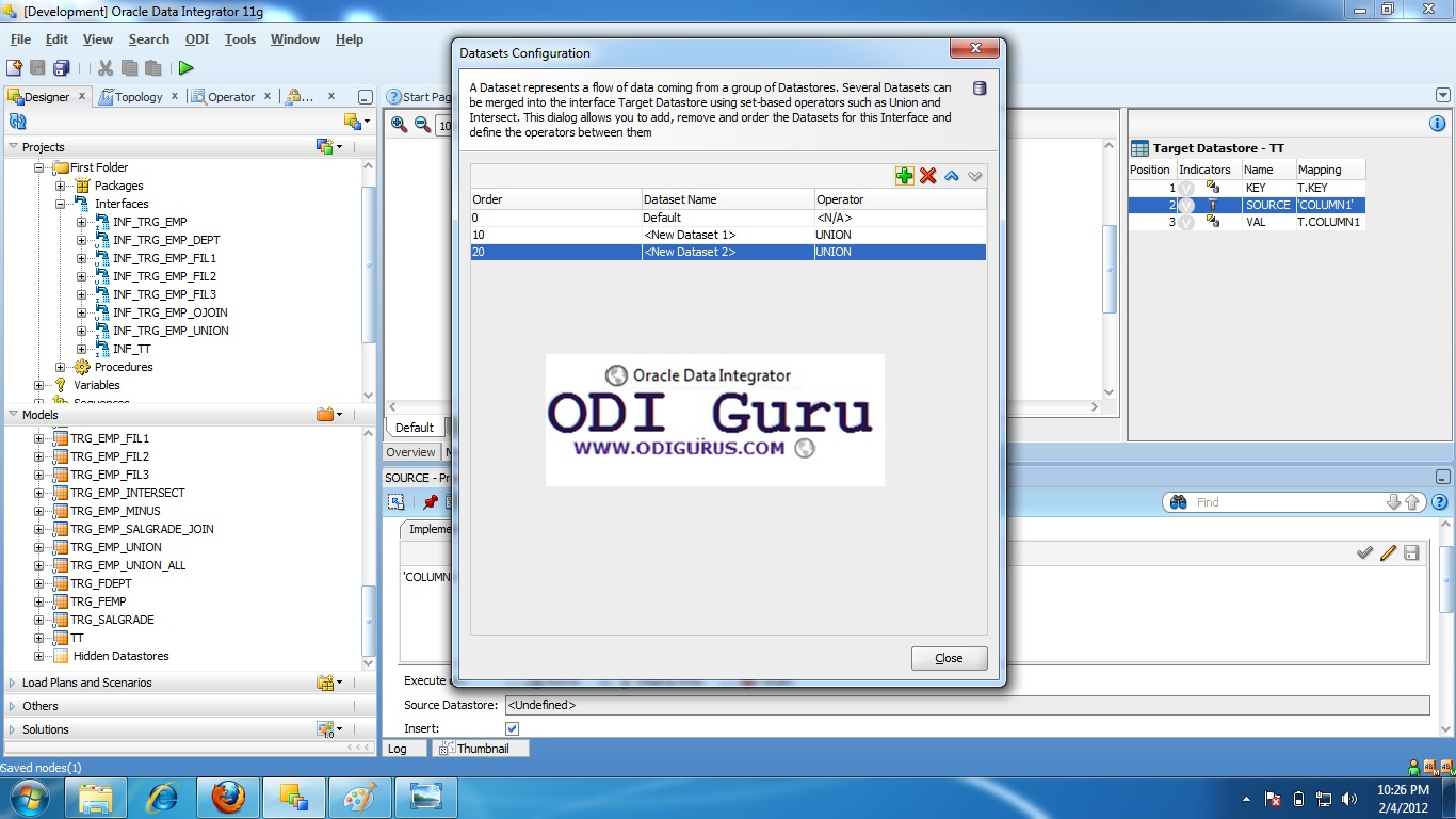 Oracle gurus odi pivot columns to rows click on symbol two time to create two new data sets of union relation as shown below baditri Gallery