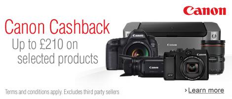 Canon Spring 2014 Cashback