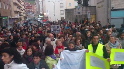 Imagen de una de las protestas en defensa del hospital Virgen del Castañar