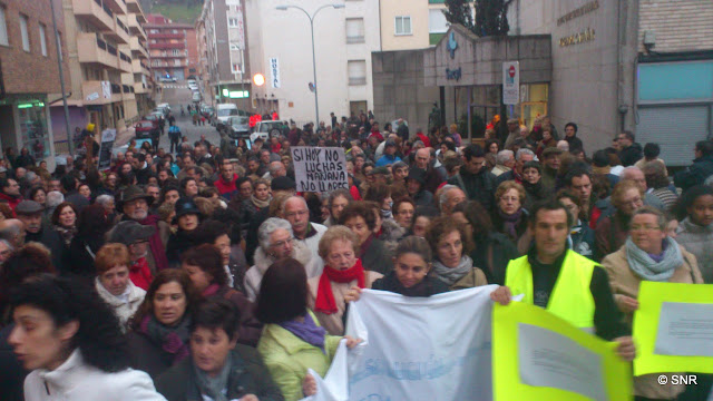 manifestación endefesan de la sanidad en Béjar