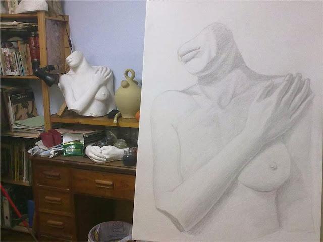 dibujo de estatua