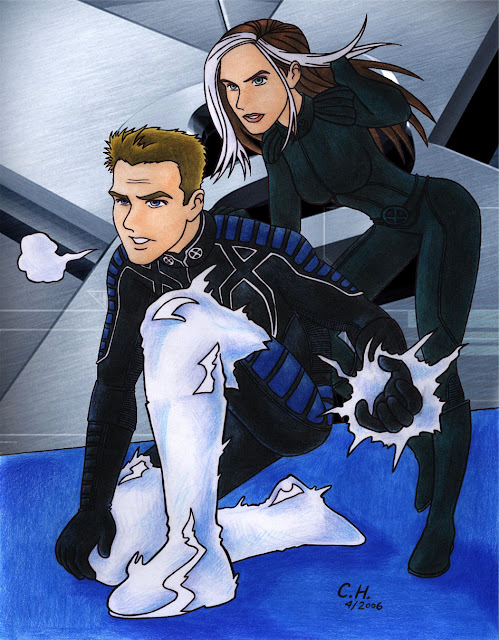 X2 Iceman and Rogue
