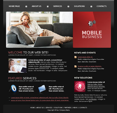 Mobile Business Blogger Template Free Download