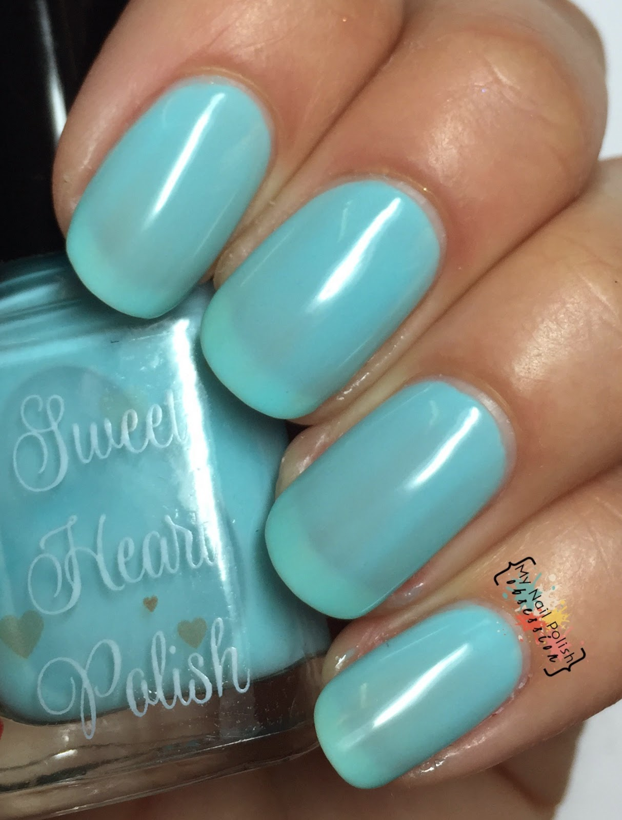 Sweet Heart Polish Blueberries and Cream
