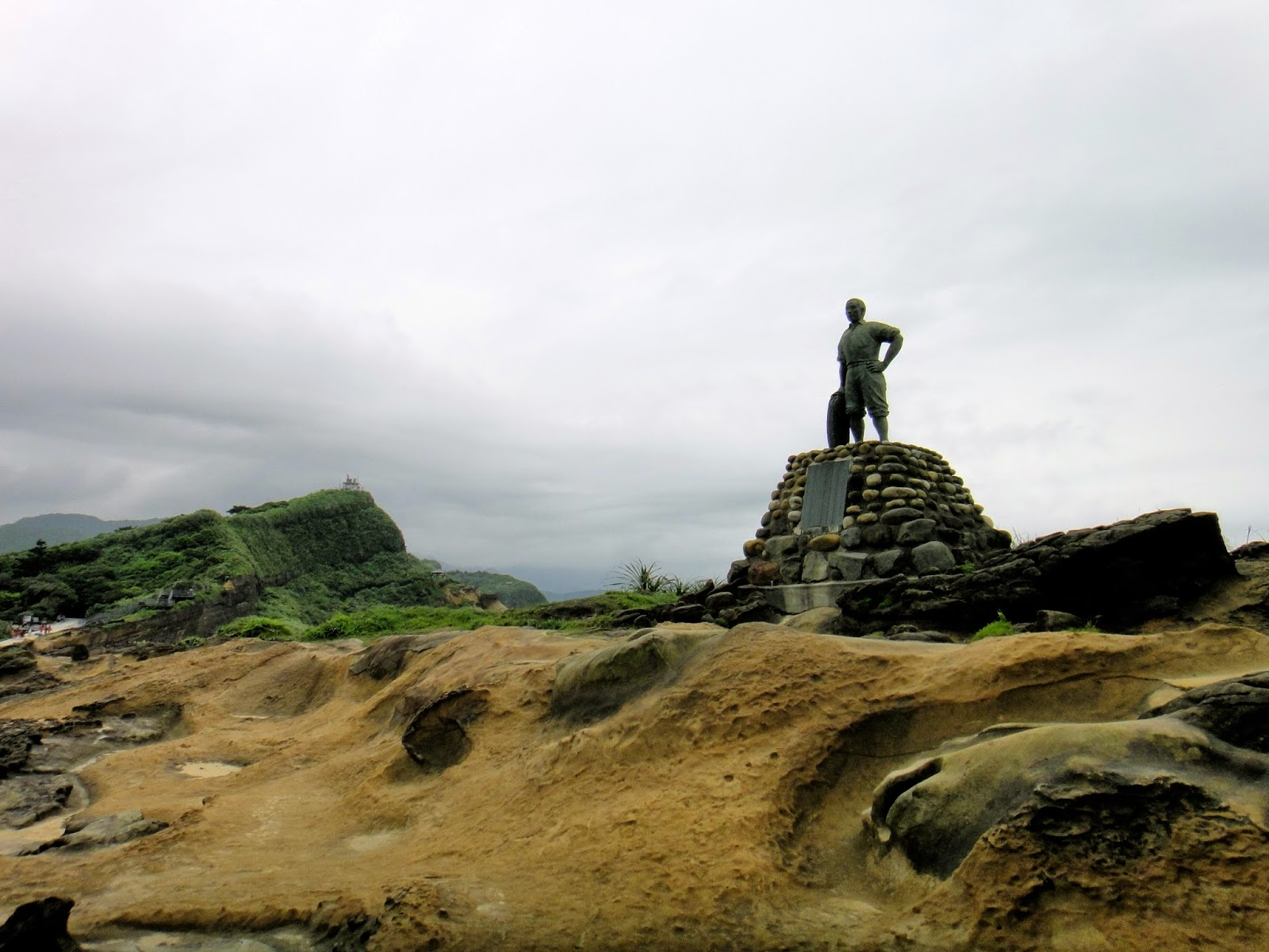 The statue of drowned boy Yehliu Geopark Taiwan