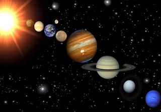 Ilustrasi Tata Surya Di Galaksi Bima Sakti,