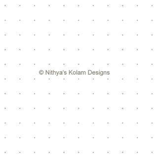 1 Siva Lingam Kolam  dots 11 x 11