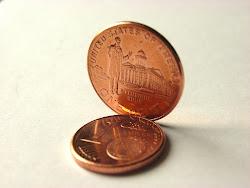 1 Euro Cent - 1 Dollar Cent