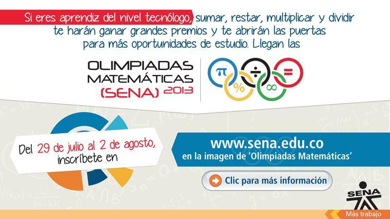 Olimpiadas Matemáticas SENA 2013