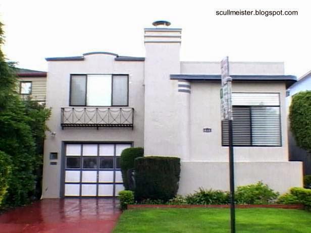 Fachada de casa residencial Art Decó modernizada en San Francisco, California