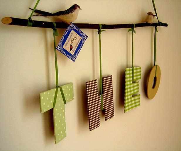 Decoração - reutilize materiais diversos