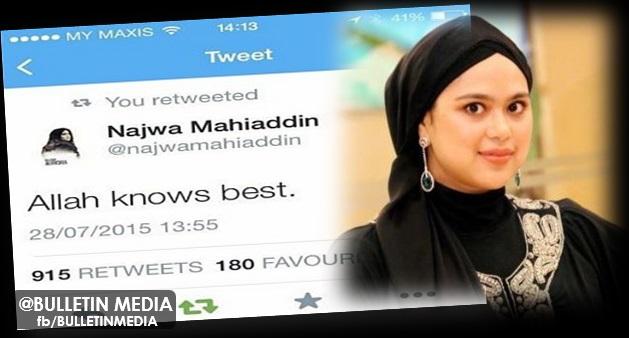 Allah Lebih Mengetahui Segala-Galanya – Najwa Mahiaddin