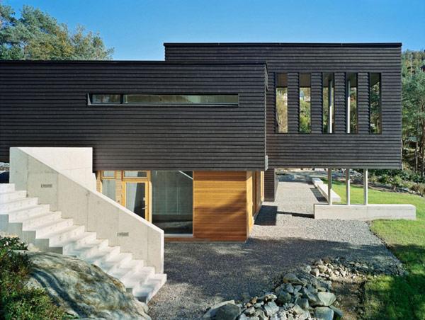 Decoraciones y modernidades fachada de hogar en madera for Casas en noruega
