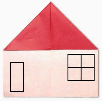 Hướng dẫn cách gấp ngôi nhà cấp bốn bằng giấy đơn giản - Xếp hình Origami với Video clip - How to make a house