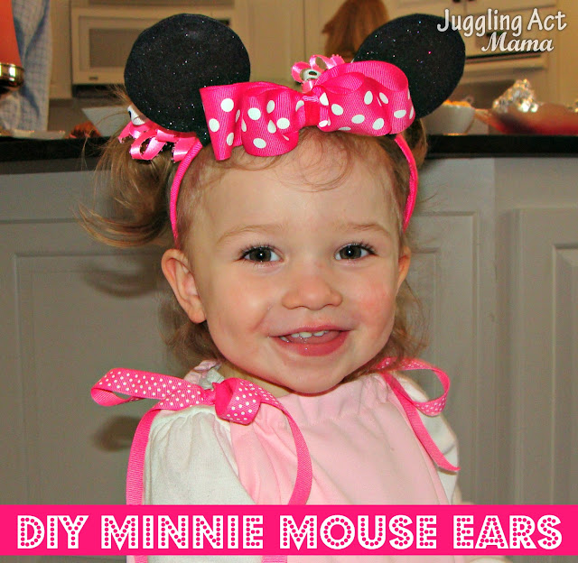 DIY MINNIE MOUSE EARS. Top 10 Post Features from Pin It Monday Hop #18