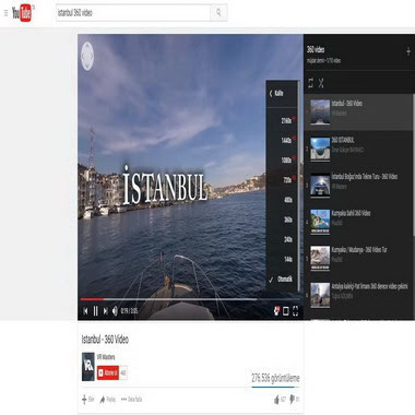 youtube com - istanbul 360 video