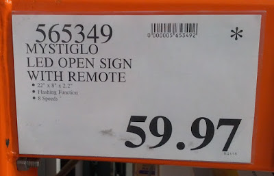 Deal for the MystiGlo LED Open Sign With Remote at Costco