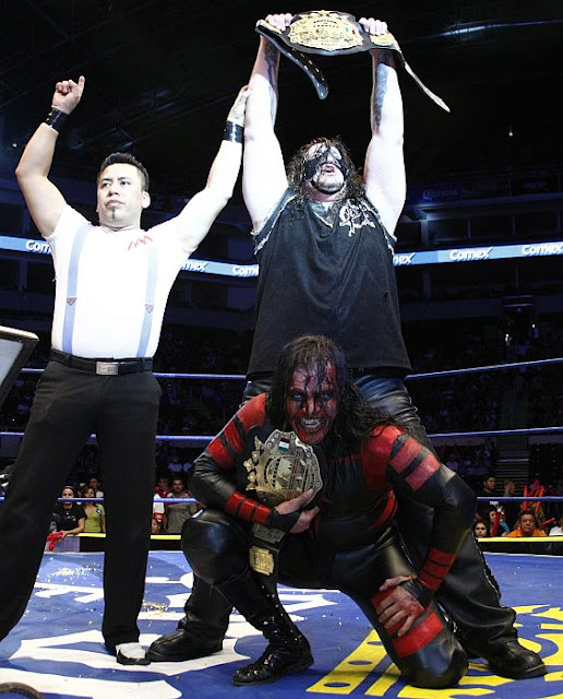 Abyss and Chessman as the AAA World Tag Team Champions in Mexico