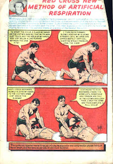 Buster Crabbe v1 #4 golden age comic book red cross ad by Frank Frazetta