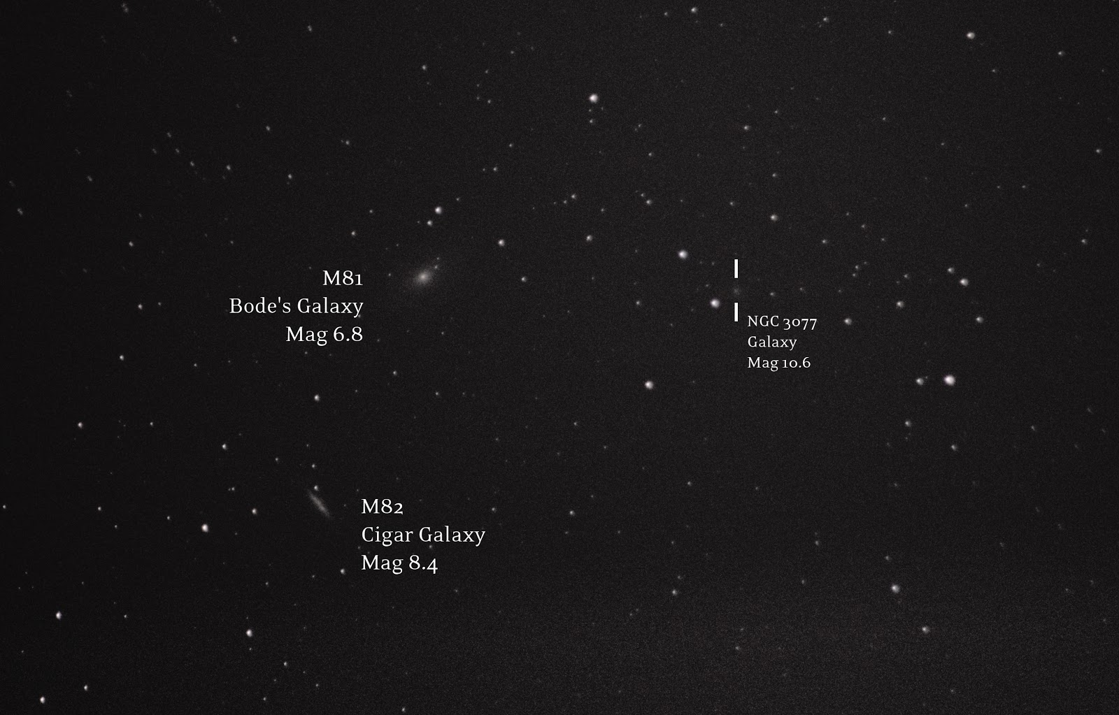 M82 M81 galaxies with DSLR