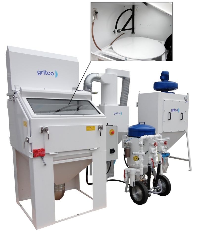 Gritco blasting & cleaning equipment: Automated soda blasting cabinet