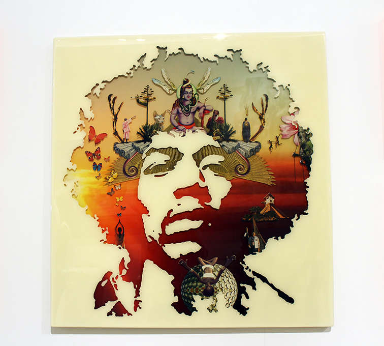 Jimi Hendrix by Sebastian Wahl at Miami Beach Art Basel 2014, Scope Gallery